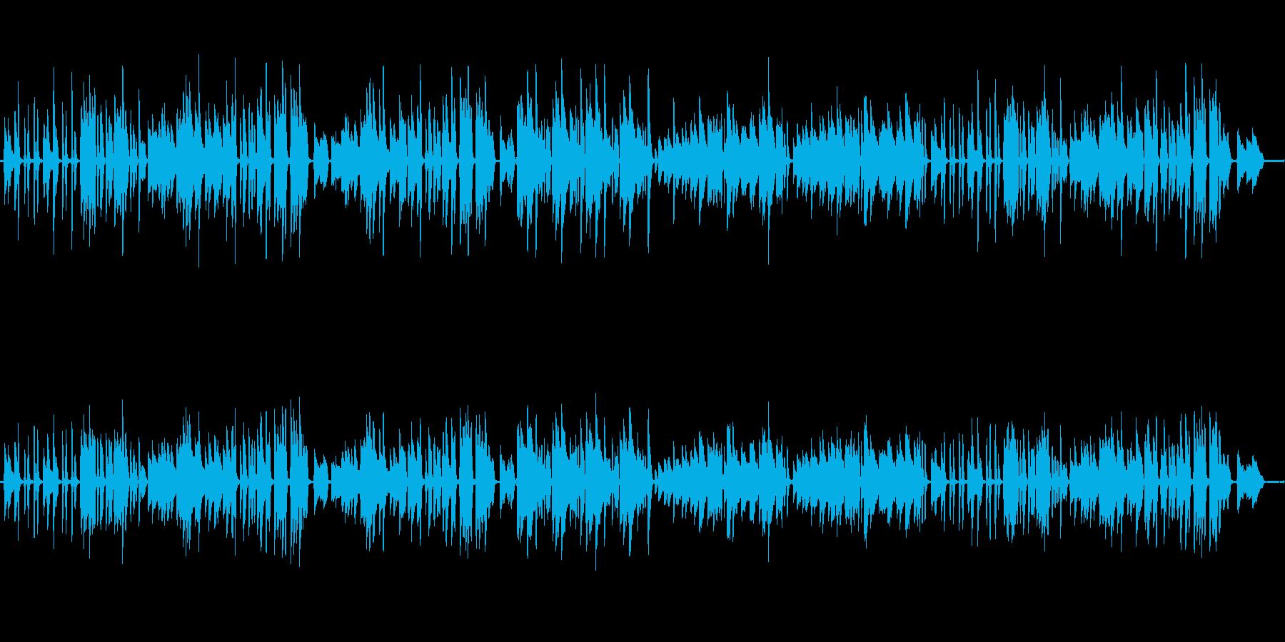 ベートーベン月光第2楽章をピアノ演奏での再生済みの波形