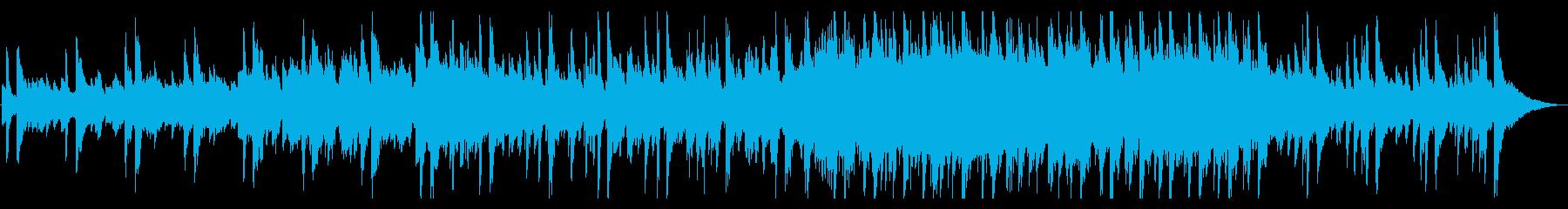 幻想的で怪しさ漂う雰囲気のジャズ風楽曲の再生済みの波形