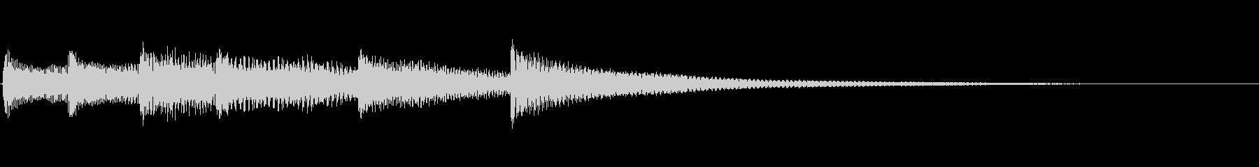 【生演奏】シリアス雰囲気のピアノジングルの未再生の波形