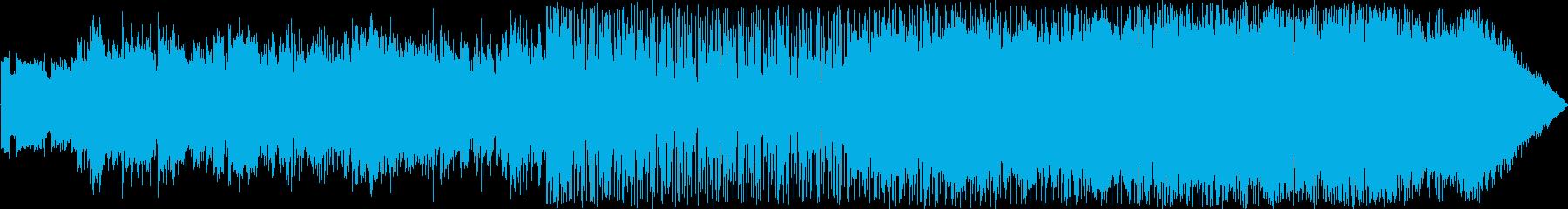 映像シリアスなエレクトロニカダンスビートの再生済みの波形