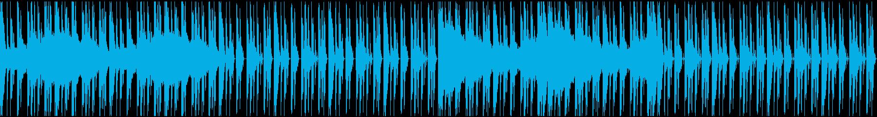 【エレクトロニカ】テクノ、ロング3の再生済みの波形