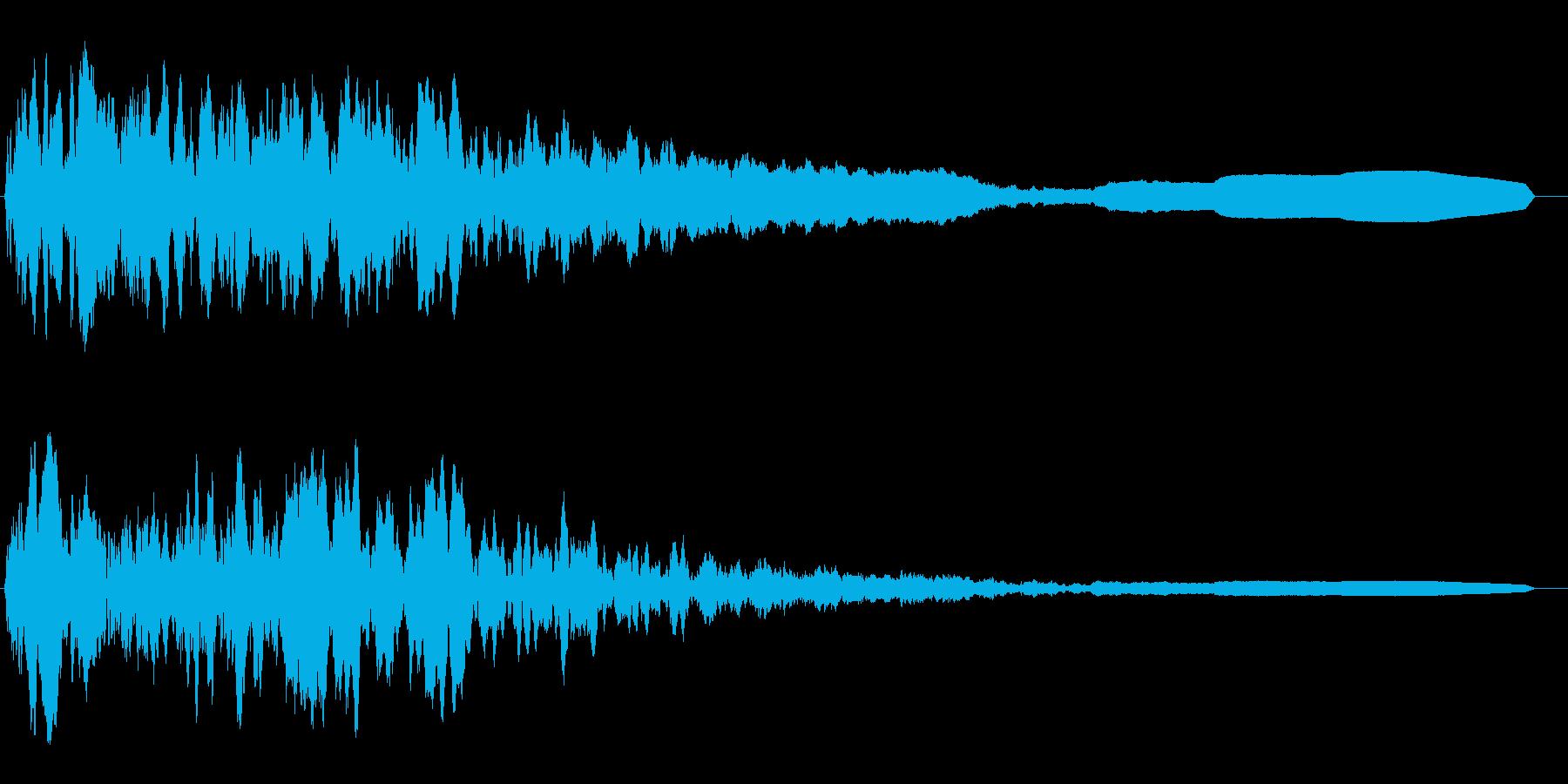 怪奇現象の時の効果音の再生済みの波形