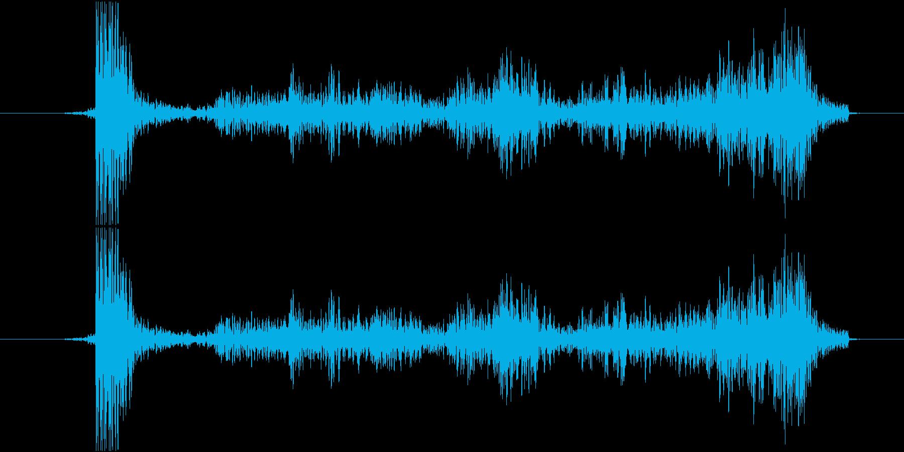 シュー(金属が擦れる音)の再生済みの波形