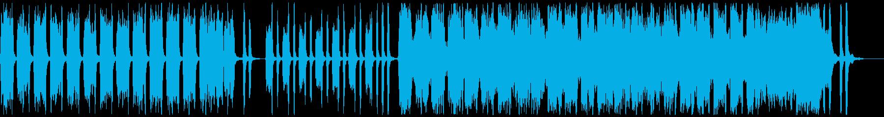 アコーディオンとバイオリンの楽しげな曲aの再生済みの波形