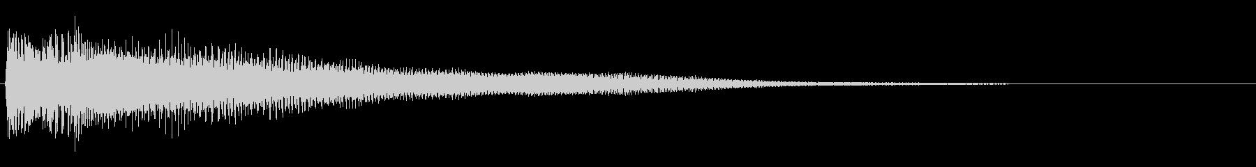 シンプルなピアノ効果音 ジャラーンの未再生の波形