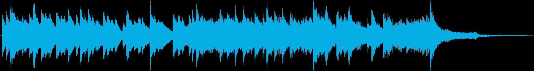 爽やかなピアノソロのBGMの再生済みの波形