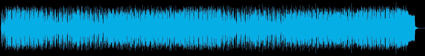 明るく爽やかなシンセのポップ曲の再生済みの波形