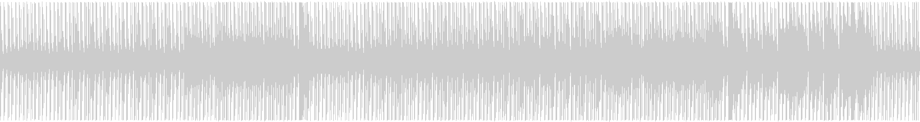 のしのし進む、穏やかで明るめのBGMの未再生の波形