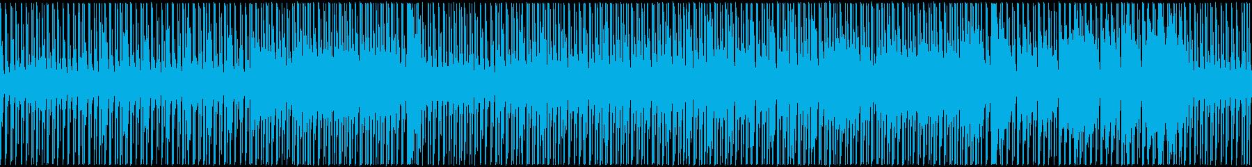 亀がのしのし進むような、穏やかなBGMの再生済みの波形