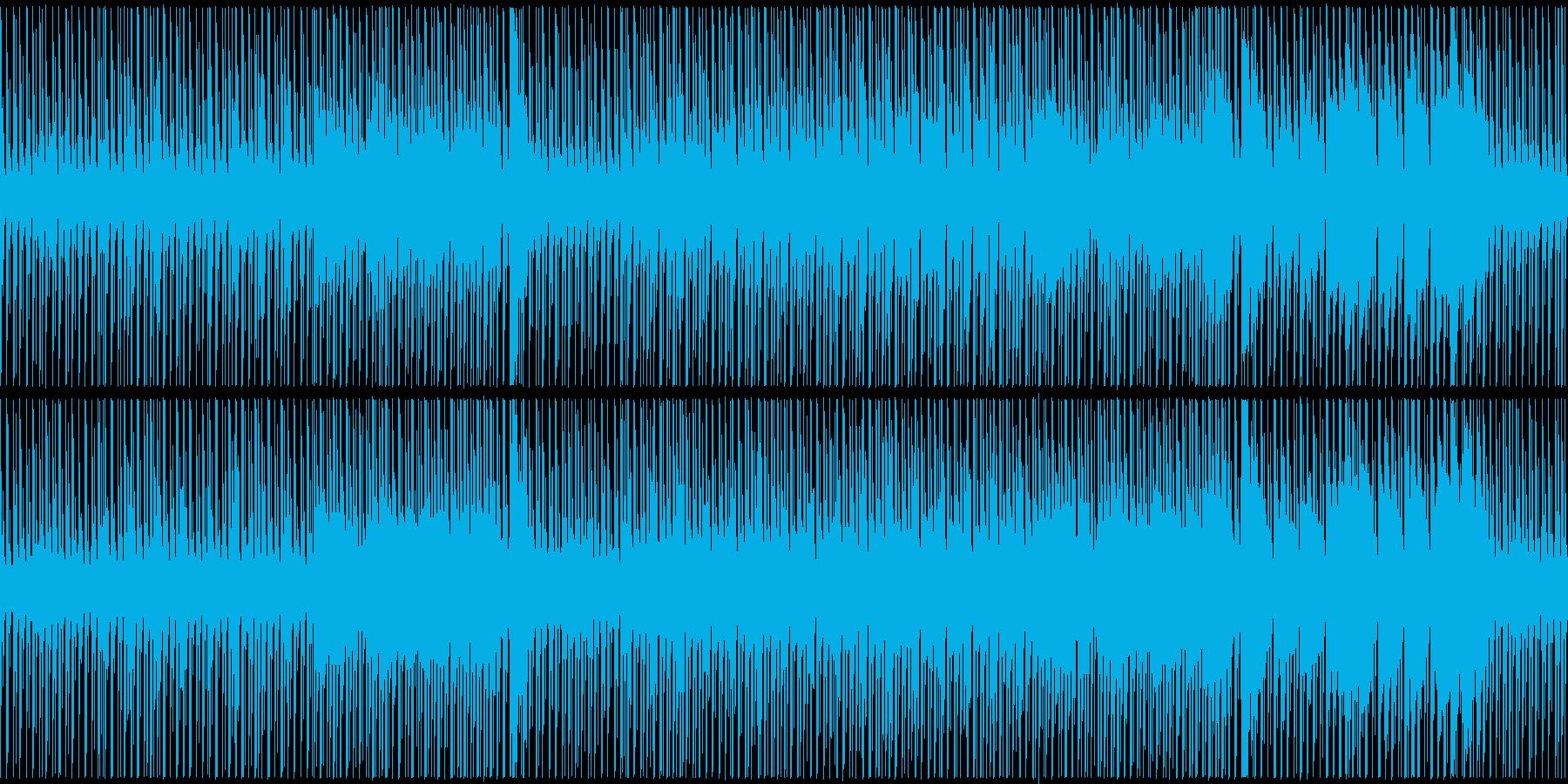 のしのし進む、穏やかで明るめのBGMの再生済みの波形