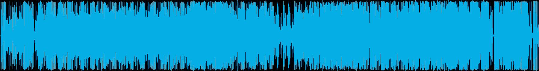 funk風HIPHOPトラックBGMの再生済みの波形