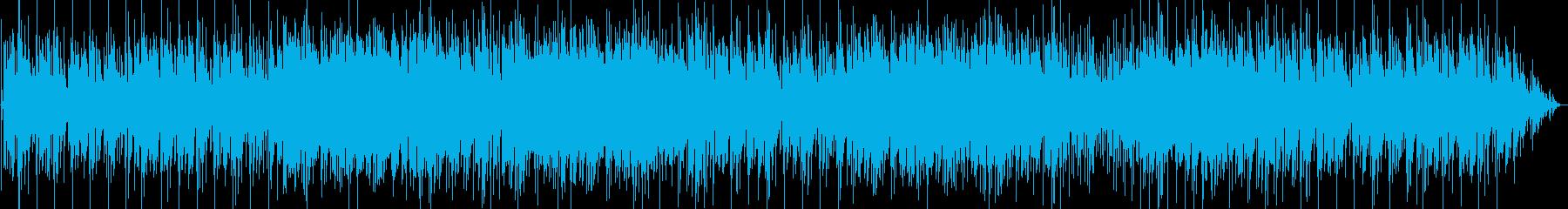 軽快なインスト曲、メロディはピアノ音の再生済みの波形