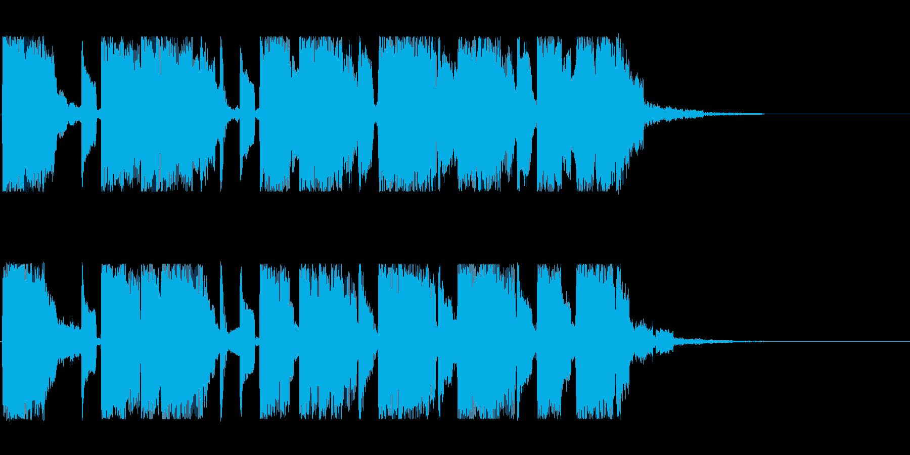 ほんのり80年代なテクノジングルの再生済みの波形