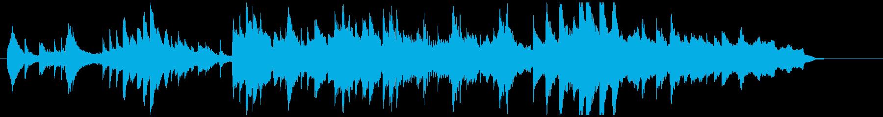 ピアノ、弦楽器、静かな挿入曲♪50秒の再生済みの波形