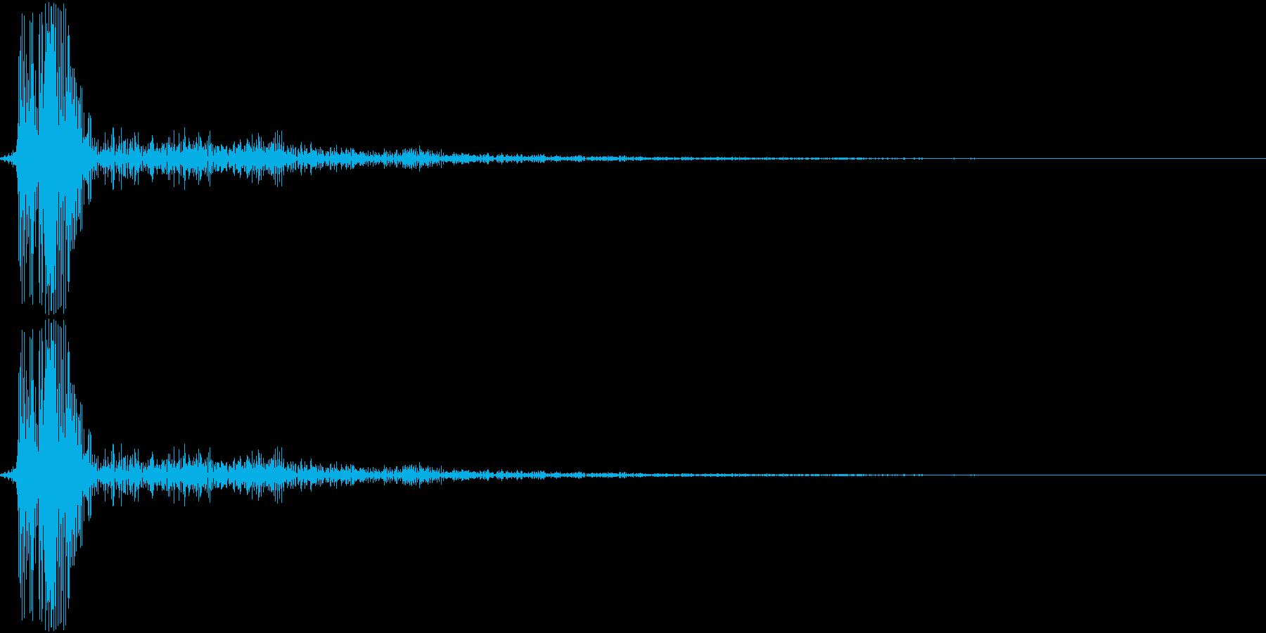 HandsClap 単発の拍手01の再生済みの波形
