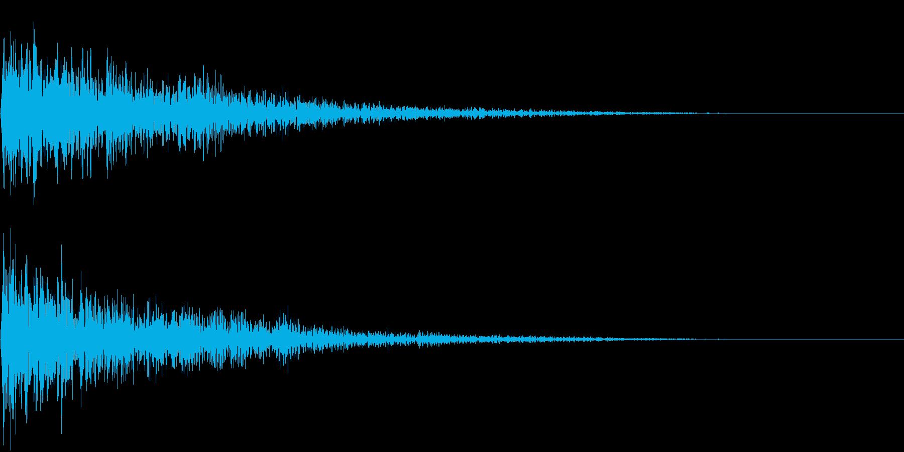 【衝撃音】バーンッ!!_02の再生済みの波形