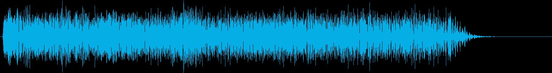 ギター エレキ ギューン スライドの再生済みの波形