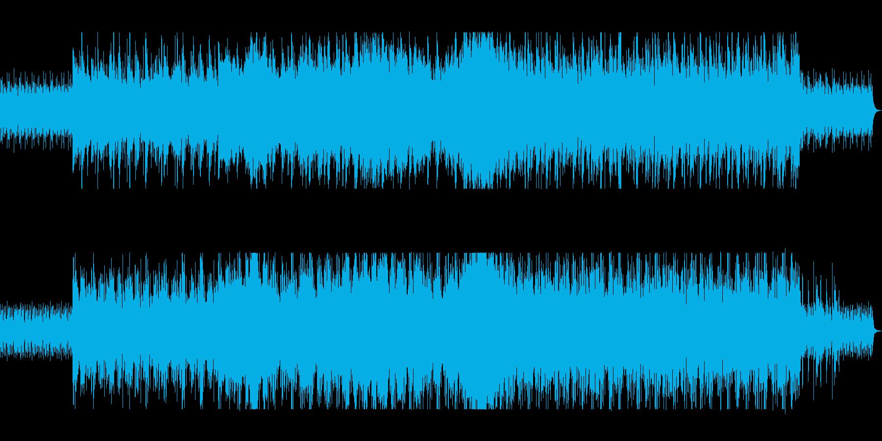 木琴の反復、ミニマル・ミュージックの再生済みの波形