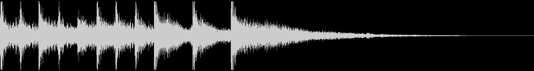 親しみやすいメロディのジングルの未再生の波形