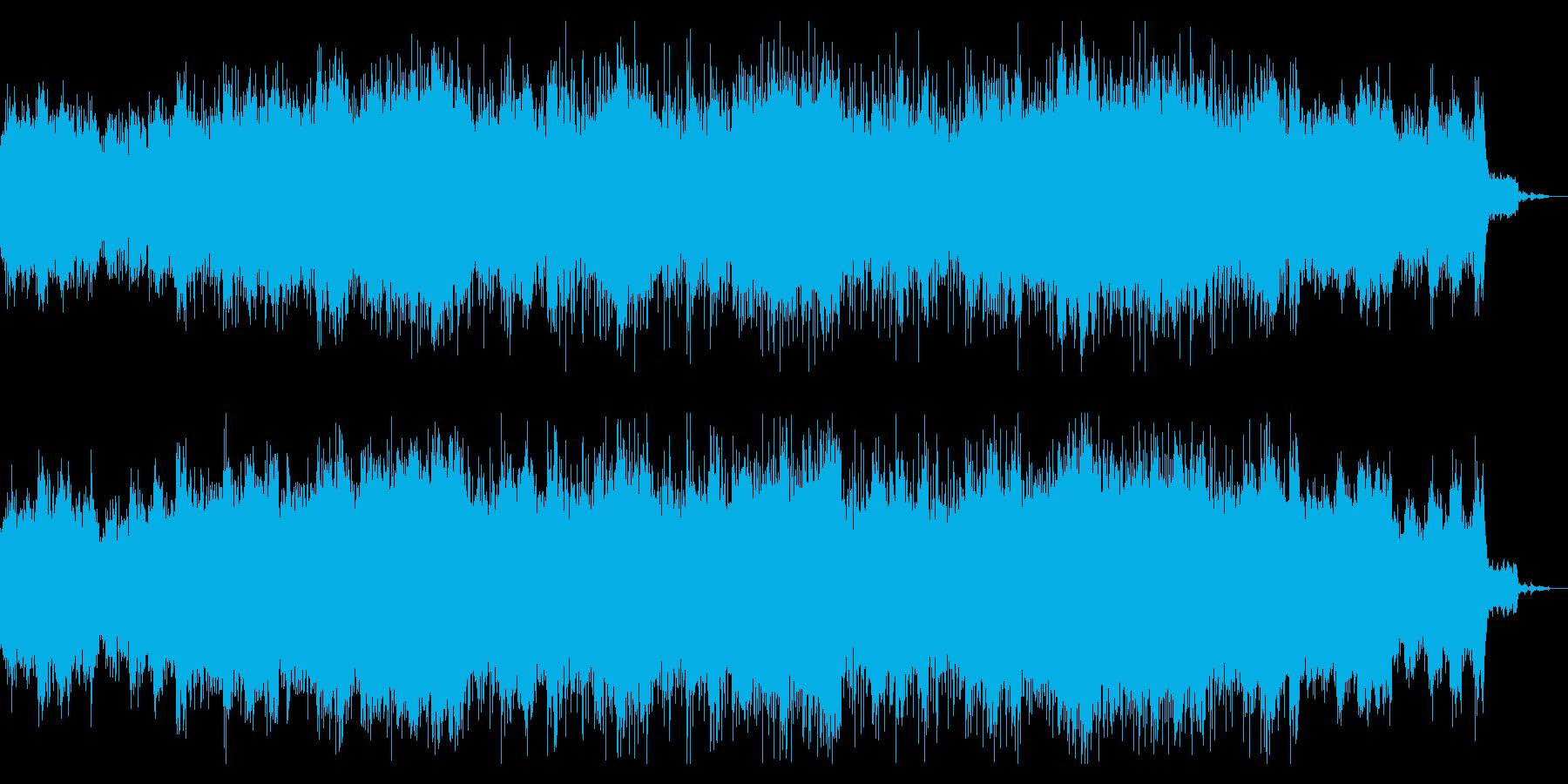 デジタルで不可思議なテクスチャの再生済みの波形