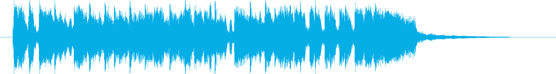 ファンクなジングルの再生済みの波形