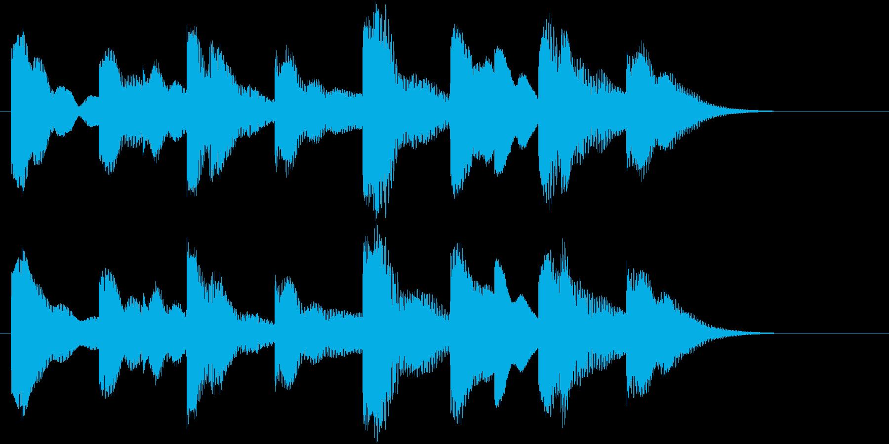 電車の発車メロディー風SEの再生済みの波形