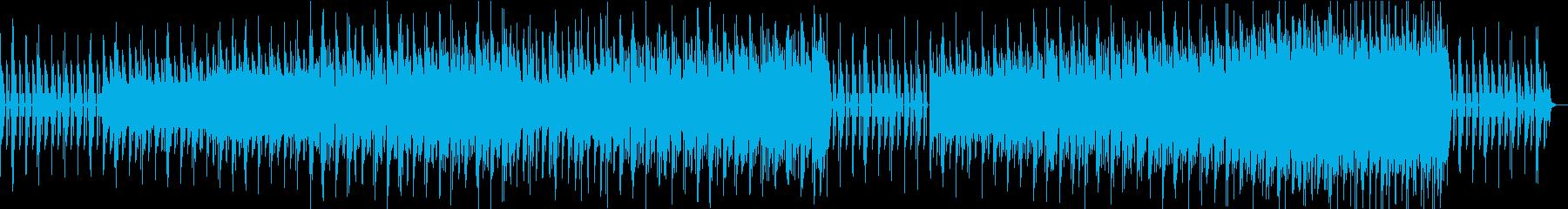 漂いと跳ねる音が合わさったエレクトロニカの再生済みの波形