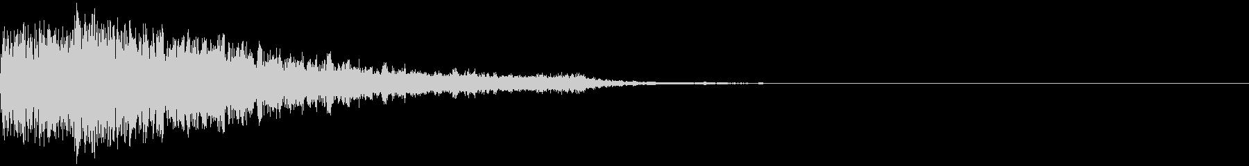 衝撃 金属音 恐怖 震撼 ホラー 36の未再生の波形