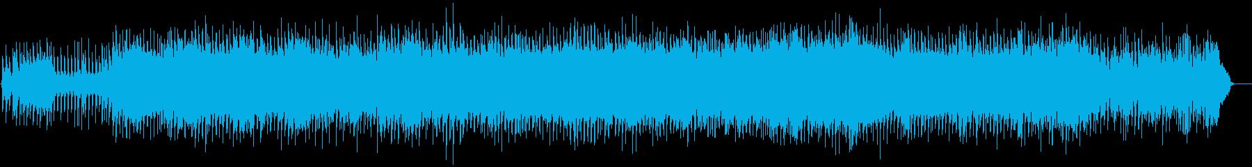 80年代ニューオーダー風のテクノポップの再生済みの波形