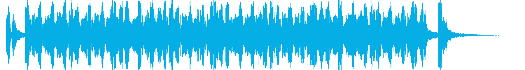 明るく可愛いポップな4つ打ち系ジングルの再生済みの波形