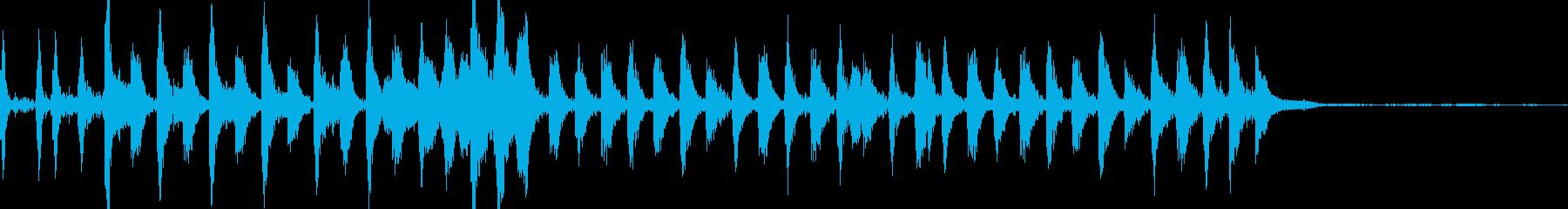 怪しげな雰囲気のCM用BGMの再生済みの波形