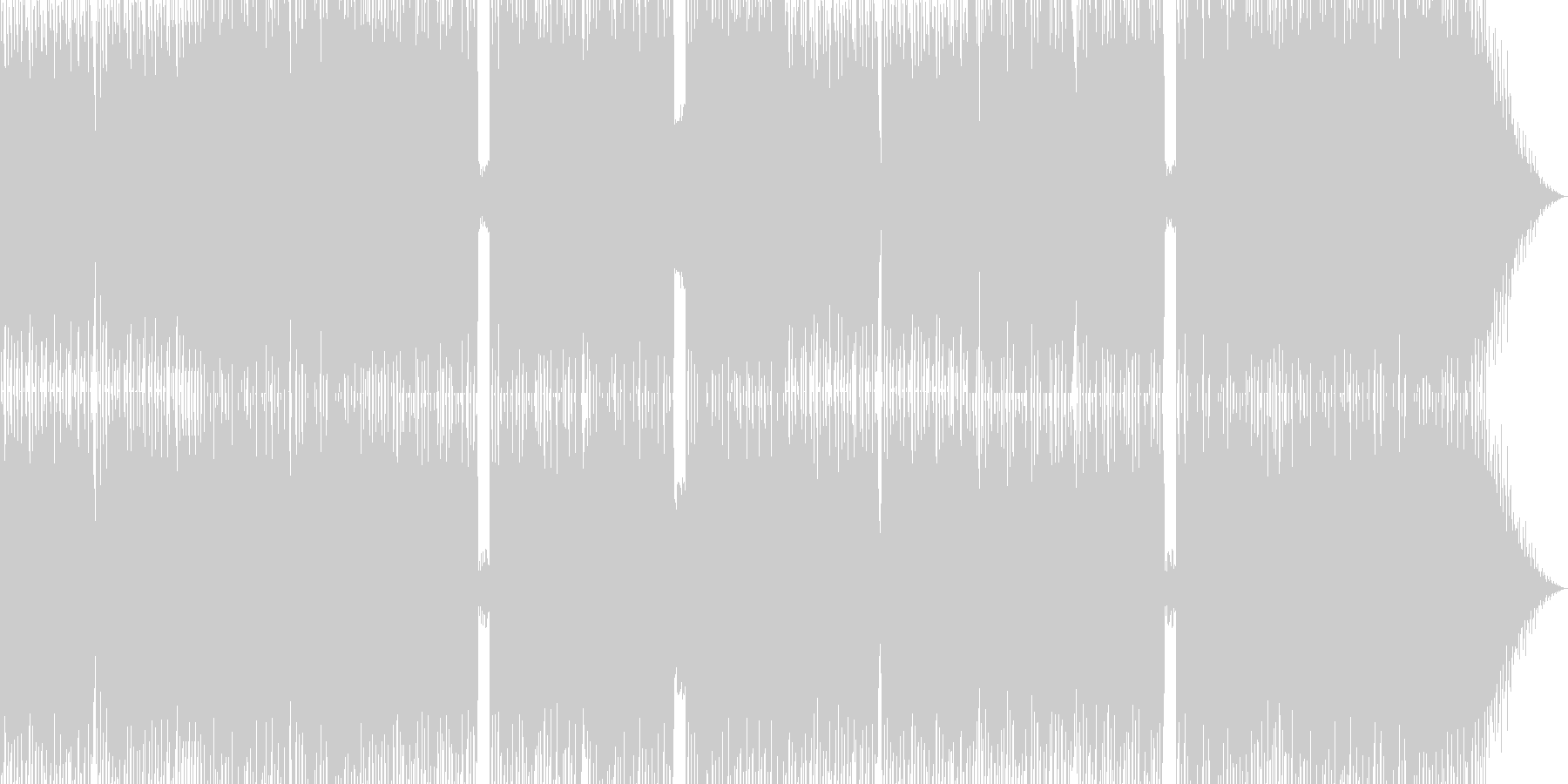 激しいデジロック調BGMの未再生の波形