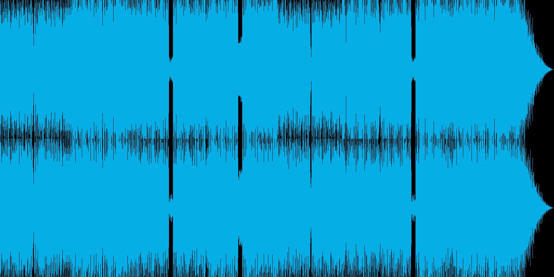 激しいデジロック調BGMの再生済みの波形