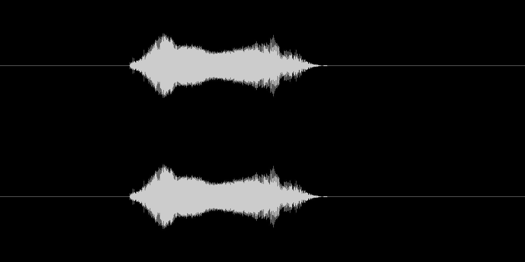 ツーの未再生の波形