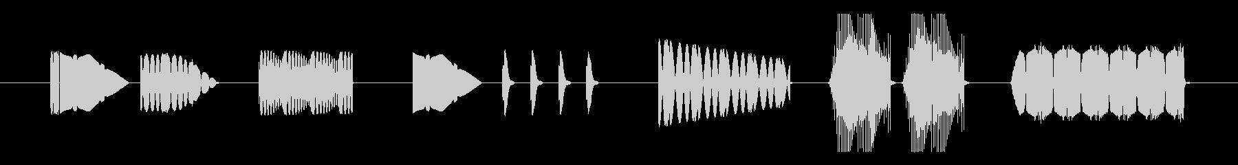 FX アーケードシューティングプレイ01の未再生の波形