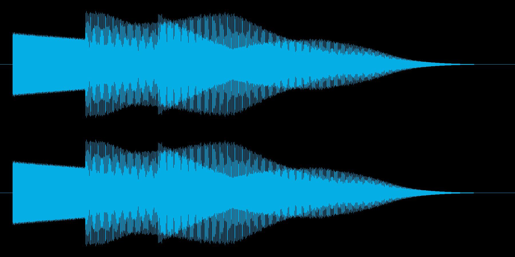 セレクト 決定 選択 スタート ピポパの再生済みの波形