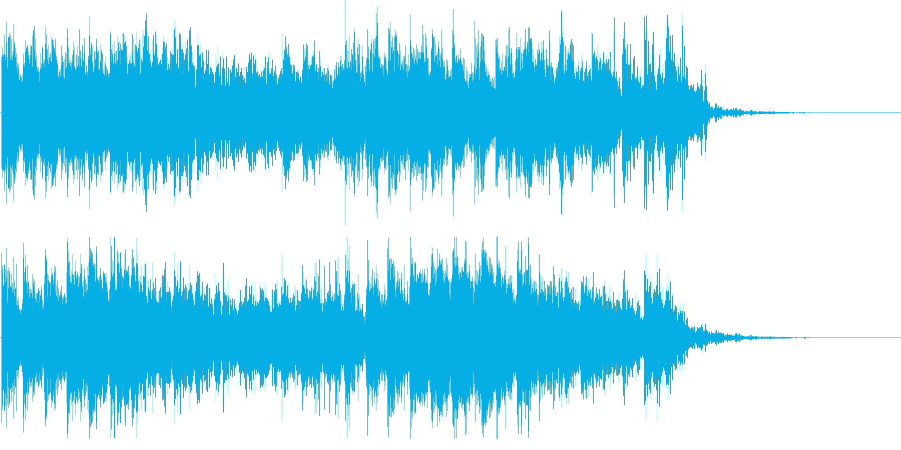 インド風シタールのサイバーなジングルの再生済みの波形