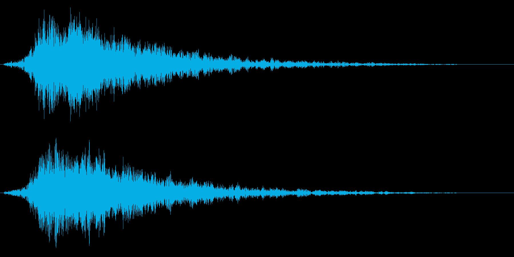 キラキラ系の光や魔法に最適な効果音!01の再生済みの波形