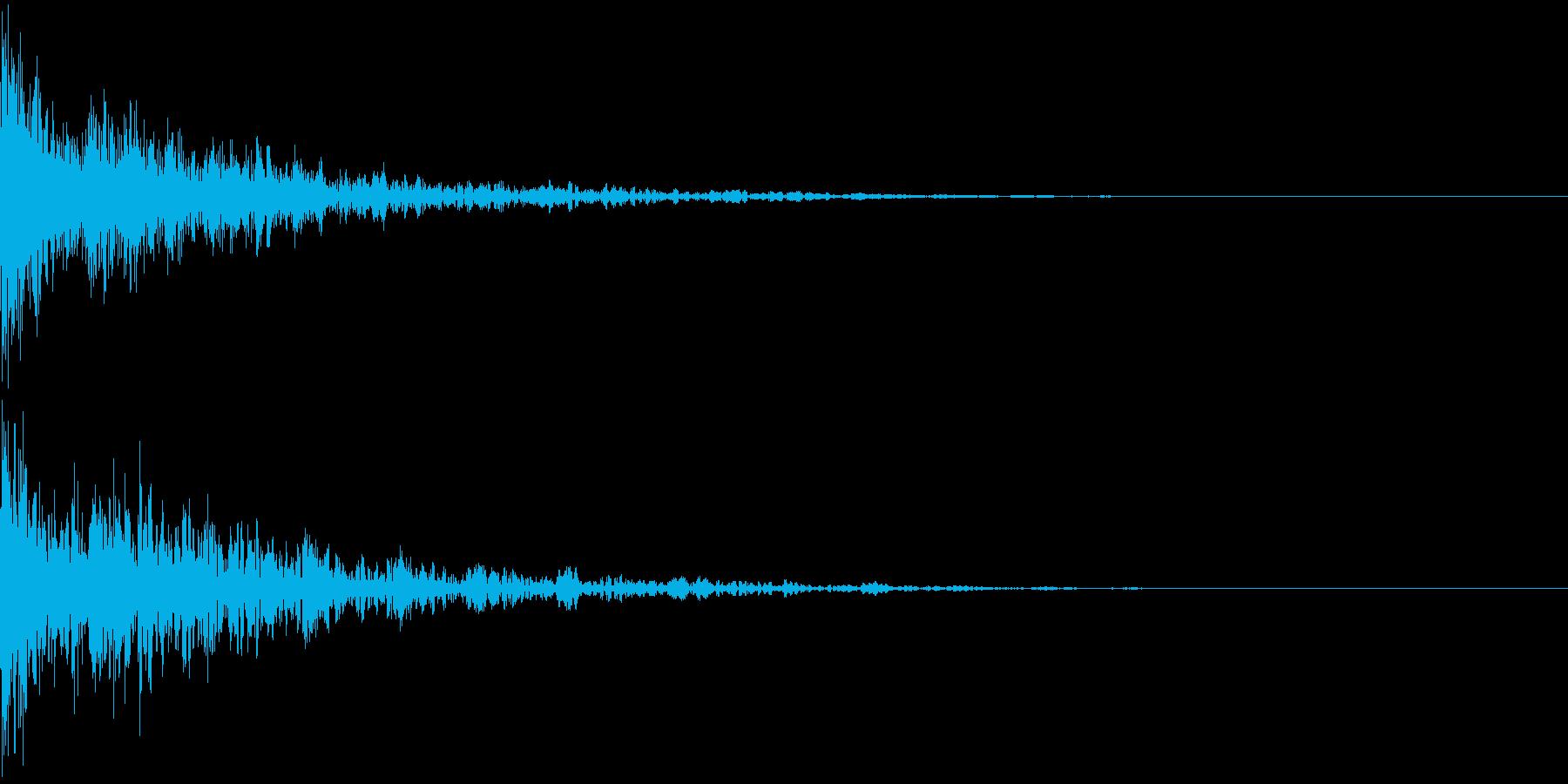 ドーン-35-2(インパクト音)の再生済みの波形
