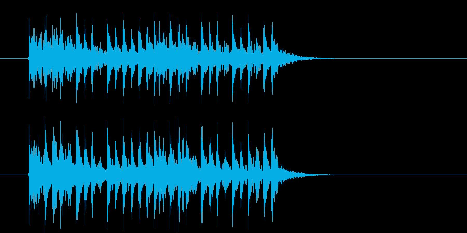 疾走感のあるミステリアスなテクノ音楽の再生済みの波形