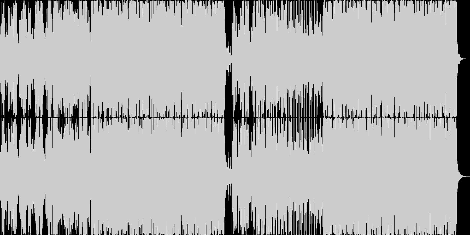 サビ盛り上がり系のポップス(英語詞)の未再生の波形