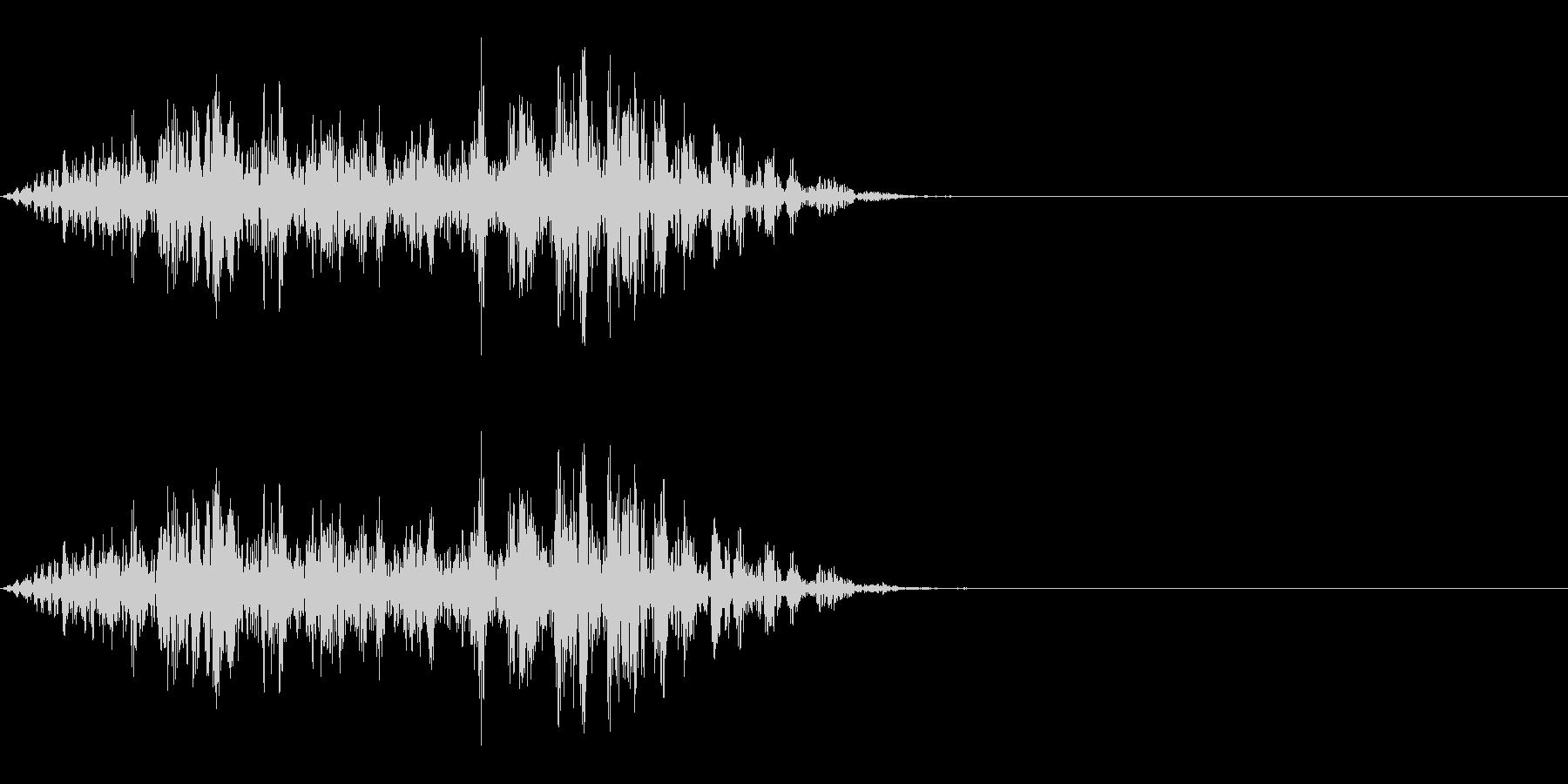 動く音 2の未再生の波形
