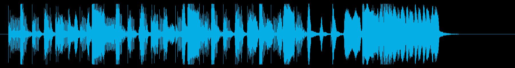 転換-トランジションなどに最適な陽気な曲の再生済みの波形