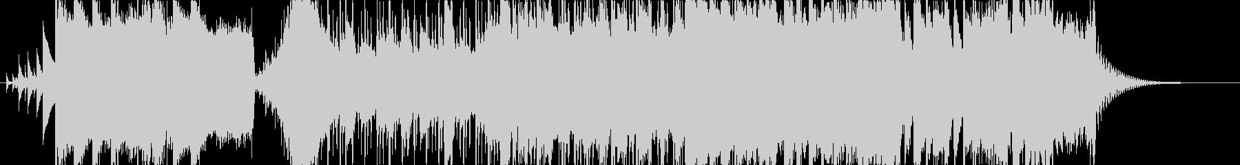 マイナー調のロックな出囃子の未再生の波形