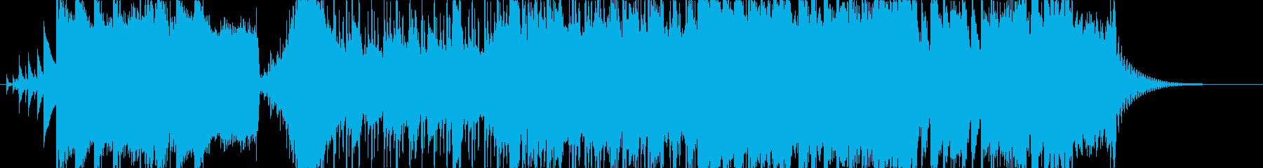 マイナー調のロックな出囃子の再生済みの波形
