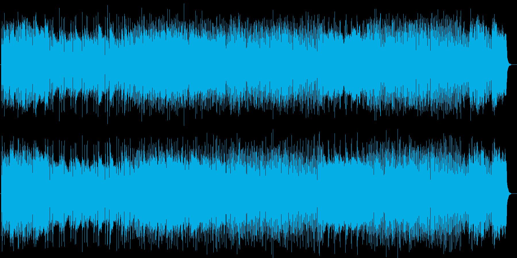 広がりがあるシンセのコード弾きで始まる曲の再生済みの波形