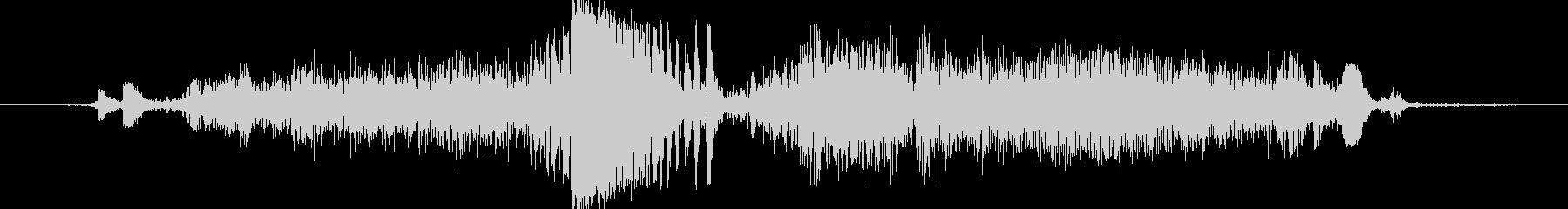 紙を断裁機で切断する時の音の未再生の波形