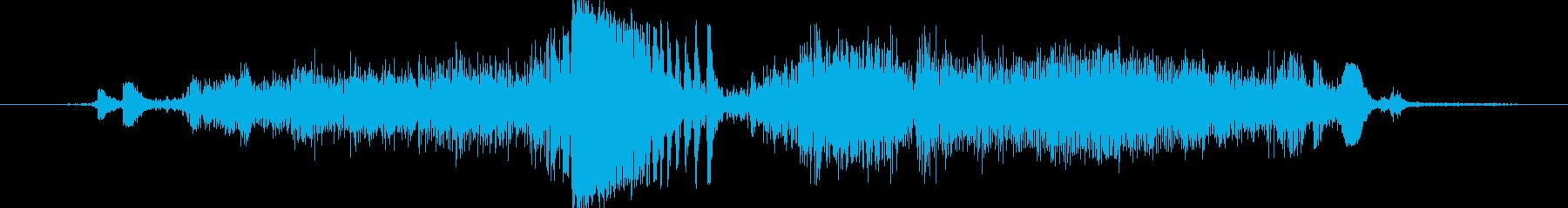 紙を断裁機で切断する時の音の再生済みの波形