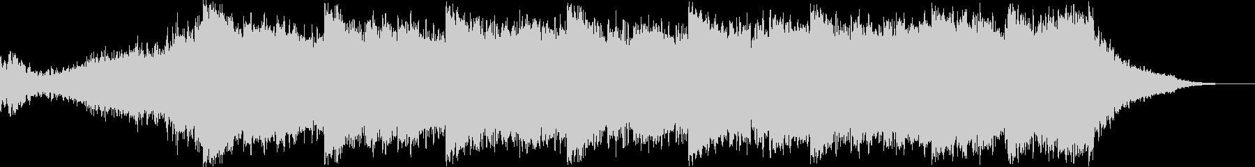 シンセパッドと環境音とベースの旋律の未再生の波形