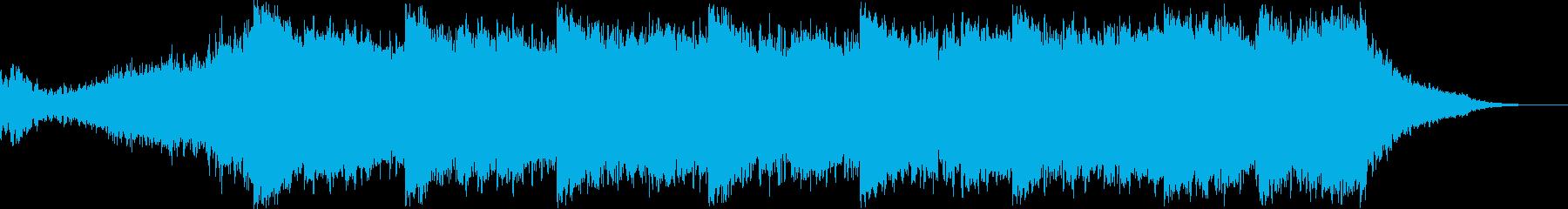 シンセパッドと環境音とベースの旋律の再生済みの波形
